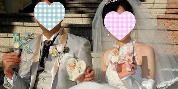 プリザーブドフラワー 結婚式 前撮り イニシャル