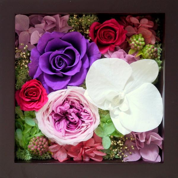 プリザーブドフラワー 古希 喜寿 お祝い 紫