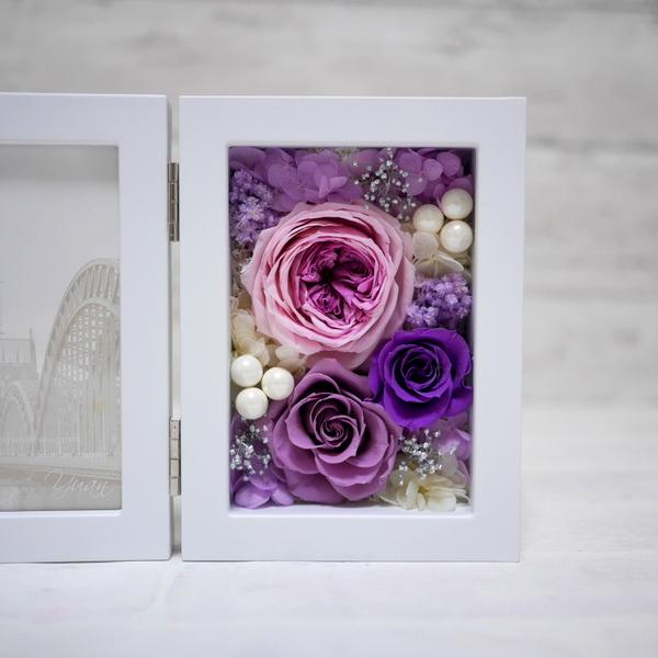 プリザーブドフラワー 紫バラ