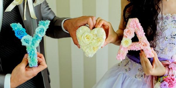 イニシャル 結婚式 前撮り