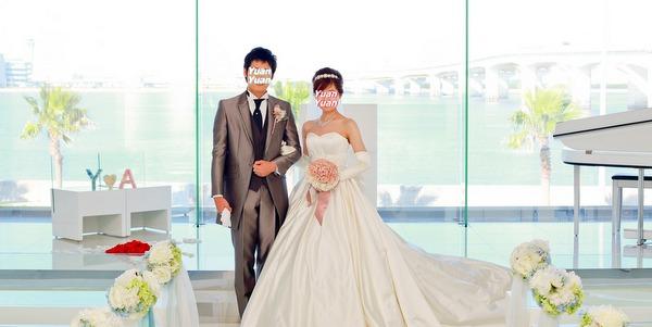 結婚式前撮り小物 イニシャル プリザーブドフラワー専門店