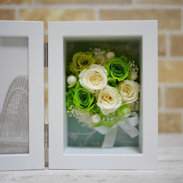 プリザーブドフラワー 写真立て 結婚式 ブーケ