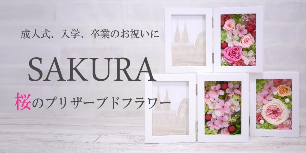 桜プリザーブドフラワー