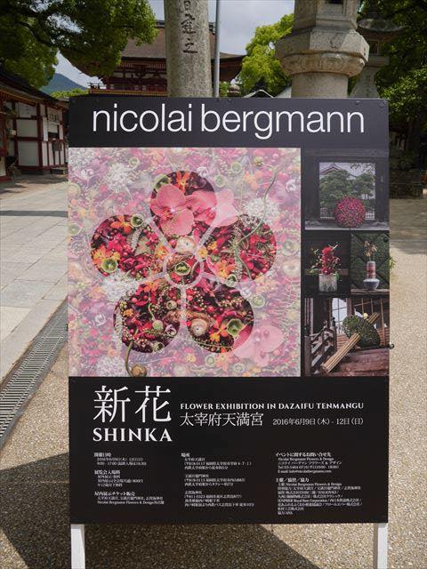 福岡太宰府天満宮のニコライ・バーグマン氏によるフラワー展覧会