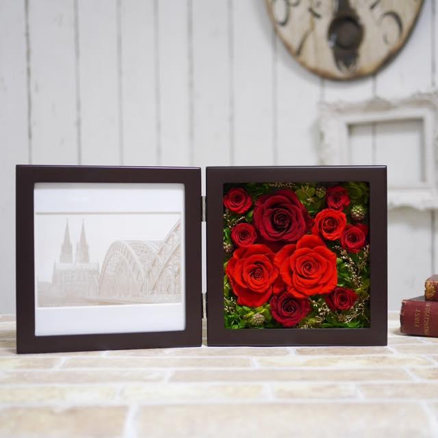 赤い薔薇のフォトフレーム