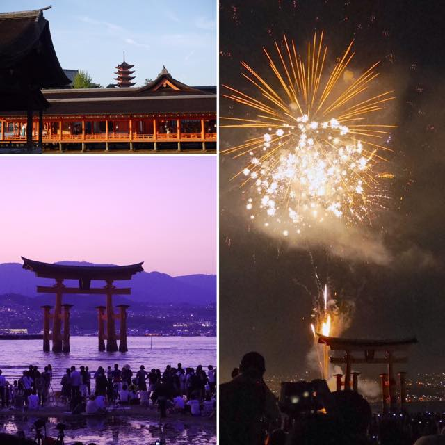 広島県の宮島の花火大会