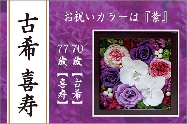 古希喜寿のお祝い