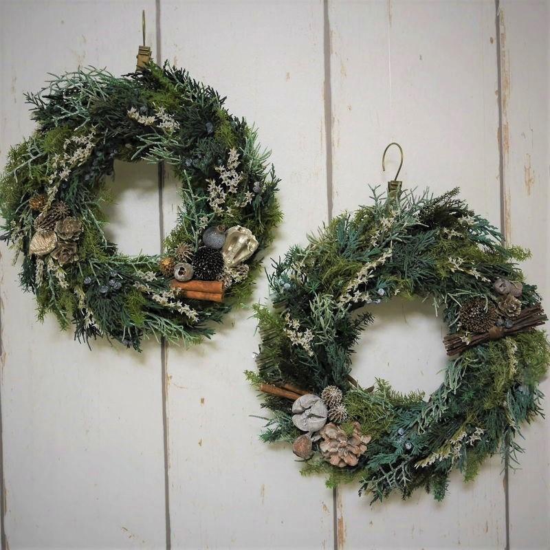 プリザーブドフラワーのクリスマスリース