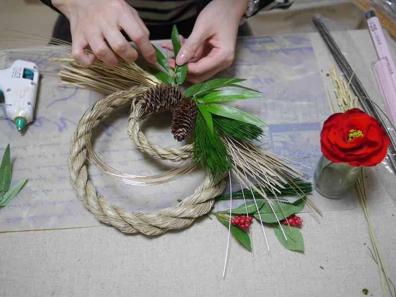お正月のしめ縄飾り作り