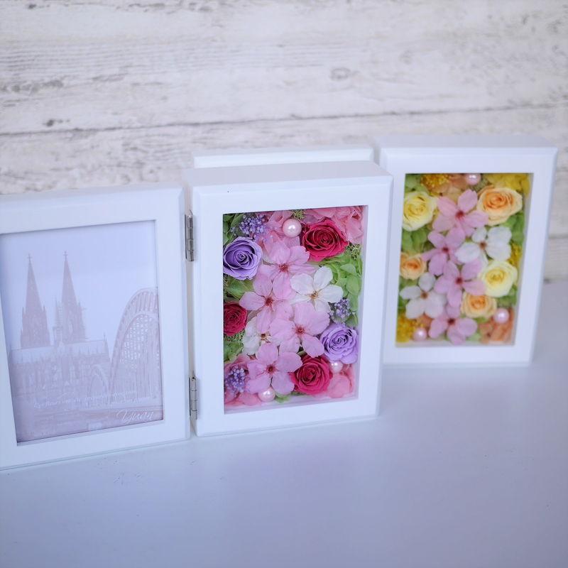 桜のプリザーブドフラワーの写真立て